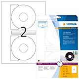 Herma 4849 Tintenstrahldrucker CD Etiketten Foto-Qualität (Ø 116 mm, Innenloch groß) weiß, 50...