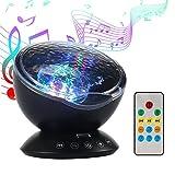 Projektor Lampe, LED Nachtlicht mit Lautsprecher, Lichteffekt Ozeanwelle, Stimmungslicht mit...