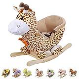 Style home Schaukelpferd Schaukeltier Plüschschaukel Kinderspielzeug (Giraffe)