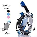 Tauchmaske Schnorchelmaske Tauchermaske Vollmaske Diving Mask Vollgesichtsmaske 180° Schnorchel-...