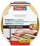 tesa doppelseitiges Verlegeband / Extra stark klebend - für alle Teppiche und PVC Beläge / Für...