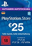 PSN Card-Aufstockung | 25 EUR | PS4, PS3, PS Vita Playstation Network Download Code - deutsches...