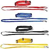 Set aus: 4 Welpenhalsbänder + 4 Welpenleinen im Set 3 Farben ideal für Züchter oder Sparpaket...