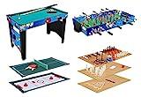 KMH®, Spieltisch 12 in 1 / Multigame Tisch / Multifunktionstisch / Billard / Kicker / Gleithockey /...