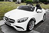 Lizenz Kinderauto Mercedes - Benz S63 AMG 2 x 35W 12V MP3 RC Elektroauto Kinderfahrzeug...