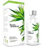 InstaNatural Rizinusöl – 100% reines&zertifiziertes Bio-Öl für Haut (Gesicht&Körper), Haare...