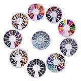 Biutee model 10 wheels Nail Art Strass Set Strass steine Nagel Kunst Dekorationen von 15000...