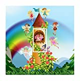 sticar-it LTD Cute Fairy Castle & Regenbogen Motiv Lichtschalter-Aufkleber Vinyl Cover Haut...