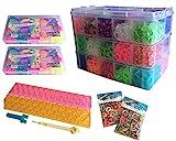 Loom Bands ca. 14000 Stk. bunte Gummibänder 1x große Box 2x kleine Box 2x kleine Loom Tüten 2x...