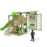 FATMOOSE Spielturm BananaBeach Big XXL Kinder-Spielplatz mit Turmanbau inkl. Holzdach Schaukel...
