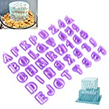 OUNONA 40 Stück Buchstaben Ausstecher Ausstechformen Buchstaben Zum Backen