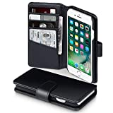 iPhone 8 / iPhone 7 Case, Terrapin [ECHT LEDER] Brieftasche Case Hülle mit Kartenfächer und...