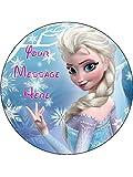Disney Frozen Elsa Neuheit 19,1cm rund Essbar Geburtstag Kuchen Topper