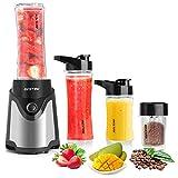 BESTEK Standmixer Smoothie Maker mini Blender Mixer mit Kaffeemühle BPA-freie Tritan-Trinkflasche...