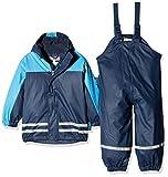 Playshoes Jungen Regenjacke Kinder Wasserdichter Matschanzug, Regenanzug mit Fleece-Futter,...