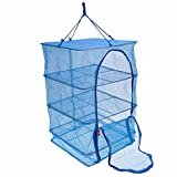 JOYOOO 4 Layers Drying Net Durable Drying Rack Folding Hanging Vegetable Fish Dishes Dryer Net Dry...