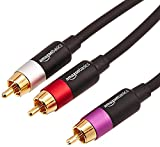 AmazonBasics - Cinch-Audiokabel, 1 x Cinch-Stecker auf 2 x Cinch-Stecker, 2,4 m