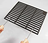 Gusseisen Grillrost 67 x 40 cm 'Grillclub' + 2 abnehmbare Handgriffe Guss, Gasgrill, Rost, Grill...