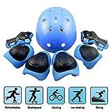 Skateboard Helm Protektoren Set Für Kinder, EarthSave Schutzset Ellenbogenschützer...