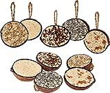 dobar Zehn gefüllte Kokosnüsse in 5 Vogelfutter-Sorten zum Aufhängen, ganzjähriges Fett-Futter...