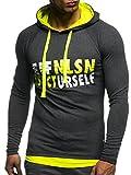 LEIF NELSON GYM Herren Fitness Sweatshirt mit Kapuze Hoodie Langarm Trainingsshirt T-Shirt Training...