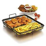 Grillkorb Heißluft für Backofen ( Edelstahl-Grillkorb für fettarmes Heißluft-Garen im Ofen...