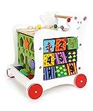 Lauflernwagen 'Bär', Lauflernhilfe aus Holz, vielseitig bespielbares Motorikspielzeug /...