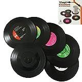 Bllatta Vinyl Untersetzer Tischsets Schallplatte Retro Style 'Records CD'(6er Set)