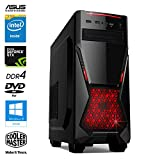 SNOGARD GAMER PC - Desktop Gaming PC (Intel Pentium G4560 3.5GHz, NVIDIA GTX 1050 Ti 4GB, 16GB DDR4...