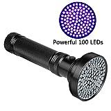 Veetop UV Lampe, Taschenlampe UV-Licht, Schwarzlichtlampe mit 100 superstrahlenden 18W UV-LED-Lampen...