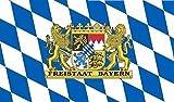 U24 Fahne Flagge Freistaat Bayern Bootsflagge Premiumqualität 20 x 30 cm