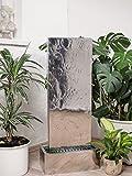 Köhko Wasserwand 23001 aus Edelstahl Wasserspiel ca. 97 cm Höhe mit LED-Beleuchtung für Garten,...