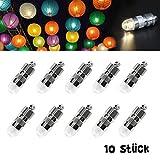 Dazone 10 weiß Mini LED-Ballons Lichter Beleuchtung für Papierlaterne Lampions Weihnacht Party...