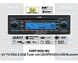 VDO 12 Volt Bluetooth & DAB Radio PKW Auto, RDS & DAB Tuner, CD, MP3, WMA, USB, 12V CDD718UB-BU