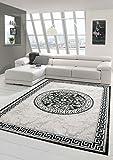 Moderner Teppich Designer Teppich Orientteppich mit Glitzergarn Wohnzimmer Teppich mit Bordüre und...