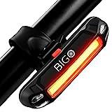 Fahrrad Rücklicht, BIGO Ultra Hell LED USB Aufladbar Wasserdichte Fahrradlicht Fahrradbeleuchtung...