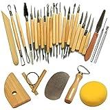 Keramik Werkzeug, Cozyswan Neue 30pcs Tonwaren-Werkzeuge, die Skulptur-Schnitzen-Werkzeug-Satz,...