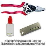 FELCO Damen STARTER-SET für Linkshänder, kleinere Handgrößen GREEN24 - Felco-Schere Nr. 16,...