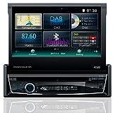 Tristan Auron BT1D7018 Autoradio 7,0'' Touchscreen Bildschirm ausfahrbar, Navi, DAB, Bluetooth...