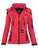 Geographical Norway Damen Softshell Funktions Outdoor Regen Jacke Sport [GeNo-20-Corail-Gr.M]