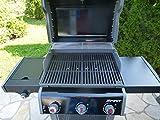 2-teiliger Gusseisen Grillrost (8,4 kg !) für WEBER SPIRIT E 310 320 + Griffe Grill Guss A