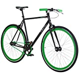 28' Fixie Singlespeed Bike Viking Blade 5 Farben zur Auswahl, Farbe: Schwarz / Grün; Rahmengrösse:...