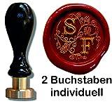 Siegel Stempel Petschaft Illuminata 24 mm 2 Initialen 8,2 cm