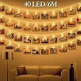 LED Fotoclips Lichterkette für Zimmer deko - wellead Clip Bilder Lichterketten Bilderrahmen...