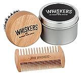 John Whiskers Bartbürste und Duo-Bartkamm - Bartpflege-Set mit reinen Wildschweinborsten und edler...