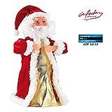 infactory Tanzender Nikolaus: Singender, tanzender Weihnachtsmann 'Swinging Santa', 28 cm (Tanzender...