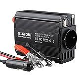 SUAOKI KFZ 300W Wechselrichter 12V auf 230V mit 2 USB Anschlüsse und Zigarettenanzünder Stecker,...