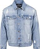 Urban Classics TB1438 Herren und Jungen Jeansjacke Ripped Denim Jacket, Oversize destroyed Look...