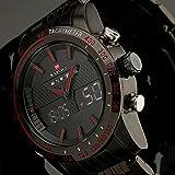Fenkoo Herren Armbanduhr Japanischer Quartz LED / LCD / Kalender / Chronograph / Wasserdicht / Duale...