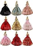 Zita element ® los 6 pcs Mode Handgefertigte Partei Abendkleid Outfit Kleidung Kleid Für Barbie -...